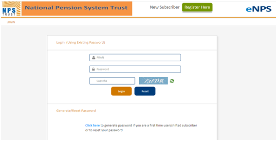 official website of National Pension System Trust