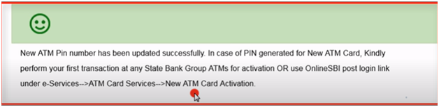 New ATM PIN generated